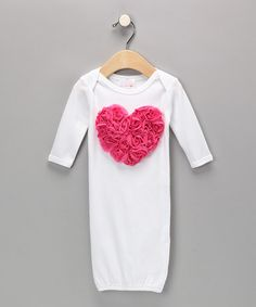 Take a look at this White Blooming Heart Gown - Infant by Luv Me Lots on #zulily today!