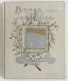 Bingen on the Rhine, 1884 Antique Poetry Gift Book with 800 Silver Book Corner