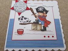 Lili of the valley handmade boys birthday card boy with lili of the valley lotv handmade boys birthday card pirate dog sct designs bookmarktalkfo Image collections