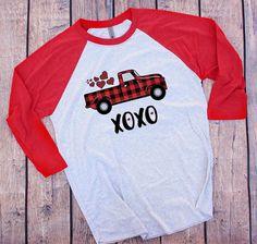 XOXO Shirt For Women, Valentines Day Truck Shirts For Women Valentine Day Shirts, Valentines Day Vintage Truck, Ladies Valentine Shirt Valentine Shirts, Valentine Ideas, Monogram Shirts, Tee Shirts, Vinyl Designs, Shirt Designs, Valentinstag Shirts, Spirit Wear, T Shirt Diy
