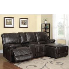 Paul Reclining Sectional | Overstock.com Shopping - The Best Deals on Sectional Sofas