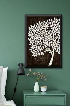 #luxe #gofollow This #Wedding Signature guest book tree is designed to be used instead of the traditional guest book registries. Your guests sign the leaves. Thi...