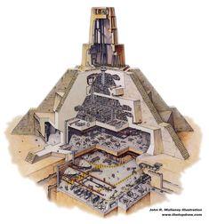 Cutaway of the Jedi Great Temple on Yavin. [2378×2546]. - Imgur