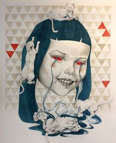 Ceren Aksungur #ink #pencil #drawing #lowbrow #popsurrealism #surrealism #illustration