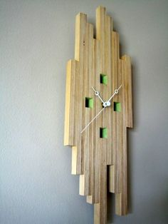 plywood clock | plywood clock