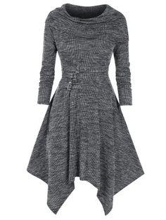 Off Shoulder Cutout Rivet Knitted Handkerchief Dress Plus Size Dresses, Cute Dresses, Vintage Dresses, Casual Dresses, Fashion Dresses, Dresses With Sleeves, Beach Dresses, Buy Dress, Knit Dress
