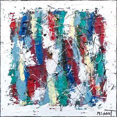 NEW PAINTING !  Vibrant Moor II II  60x60 cm  My website:   #art #paintings #artbylonfeldt