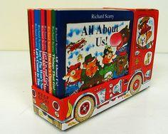 8 Richard Scarry Toddler Preschool Board Books in Fire Truck Gift Box Set