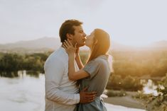 Engagement shoot at super beautiful sunset in California. Destinations, Beautiful Sunset, Engagement Shoots, Art Nouveau, Couple Photos, Kissing, Engagements, Instagram, California