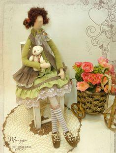 Куклы Тильды ручной работы. Ярмарка Мастеров - ручная работа. Купить Кукла Тильда: Кристина. Handmade. Тильда, бохо шик