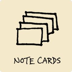 note cards, index cards, organize, stack