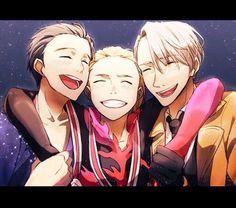 Viktor, Yurio and Yuuri #yoi