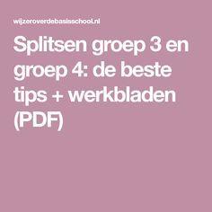 Splitsen groep 3 en groep 4: de beste tips + werkbladen (PDF)