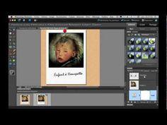 Faire un effet photo Polaroïd avec Photoshop Elements - YouTube
