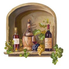 Wine Alcove Mural - Small.Opens in a new window
