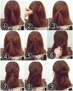 Hairdos For Short Hair, Braided Hairstyles, Short Hair Styles, Braid Flower, Beautiful Long Hair, Dyed Hair, Fries, Hair Beauty, Make Up