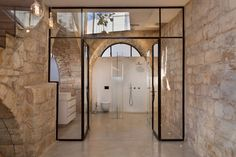 Articles about 250 year old stone house israel surprisingly modern interior. Dwell is a platform for anyone to write about design and architecture. Architecture Design, Architecture Renovation, Minimal Architecture, Design Exterior, Interior And Exterior, Modern Interior, Home Interior Design, Old Stone Houses, Home Decor Ideas