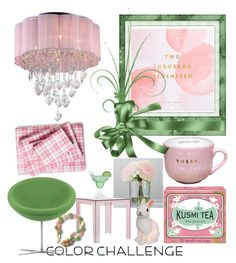 """Contest: Green & Blush"" by dtlpinn on Polyvore featuring interior, interiors, interior design, home, home decor, interior decorating, Poppy & Fritz, Thrive, Warehouse of Tiffany and Vitra"