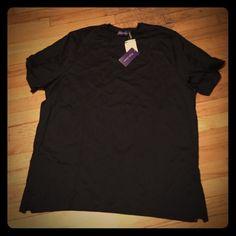 """Ralph Lauren Purple Men's  t-shirt in black. Ralph Lauren Purple: black men's knit t-shirt. With tags, never worn. XL. 26"""" pit to pit  Ralph Lauren Purple Tops Tees - Short Sleeve"""