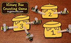 Sugar Aunts: Honey Bee Games and Activities Inspired by The Many Adventures of Winnie The Pooh Bee Activities, Writing Activities, Space Activities, Kindergarten, Preschool Math, Counting Games, Math Games, Bee Games, Bee Crafts