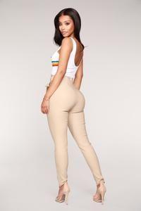 Knot Your Girl Pants - Khaki – Fashion Nova Red Pants Fashion, Girls Pants, Pants For Women, Sexy Outfits, Summer Outfits, Fashion Nova Models, Black Pants, Khaki Pants, Cut And Style