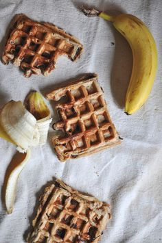 These Peanut Butter Banana Waffles are the perfect way to start your day.
