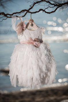 Φόρεμα βάπτισης Vinte Li 2809 με ασορτί κορδέλα., annassecret,