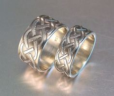 His and Hers Knotted Wedding Rings