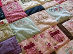 Baby Clothes Quilt from JellyBeanQuilts.com