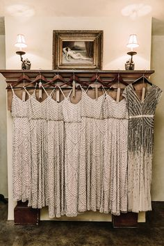 Beaded blouson dresses