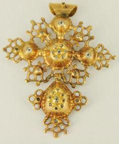 "croix ""drille"" ou quadrille - bijou normand"
