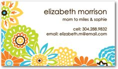 Such a great idea! Mom business-type cards to hand out to the teachers, other parents once your child starts school!