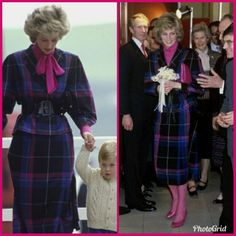The same suit with a different blouse. William Kate Wedding, Images Of Princess, Diana Williams, Diana Fashion, Queen Pictures, Recycled Fashion, Diana Spencer, Dressed To Kill, Lady Diana