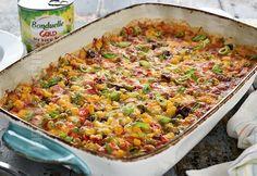 Mix de legume cremoase la cuptor - reteta video Gazpacho, Paella, Fried Rice, Fries, Gluten, Vegan, Vegetables, Cooking, Ethnic Recipes