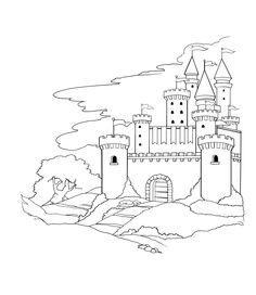 printable castle coloring pages print for the kids to color while