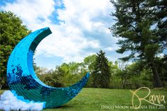 Behind The Build - Dreamscape Festival Deco and Art Installation - Giant Acrylic Mosaic Mirrored Disco Moon