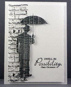 The cue word this week at CASology  is UMBRELLA .       My Card:-   Card – Mondi   Image – Tim Holtz   Background  - Bo Bunny   Sentimen...