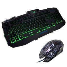 42.30$  Watch now - http://alis3t.worldwells.pw/go.php?t=32665523575 - Gaming Keyboard and Mouse Set USB Wired LED Backlit 3 Color Gamer Keyboard Mouse Combo Set for Laptop Desktop Gamers Office Work 42.30$