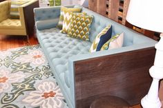 "Saw this sofa on an HGTV show ""Secret of a Stylist"" and fell in love. I am still in love!"
