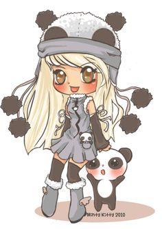 Chibi1panda trade re-do by Minty-Kitty-Art.deviantart.com on @deviantART