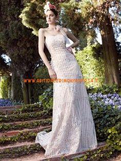 senza spalline applique pizzo couture abiti da sposa a prezzi accessibili 2013