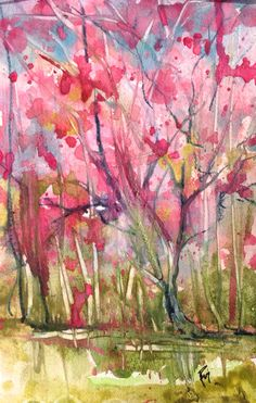 Pink in the Pantanal Watercolor Robin c. Miller