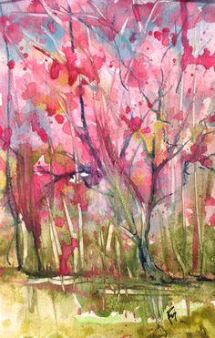 Pink in the Pantanal Watercolor Robin c. Miller