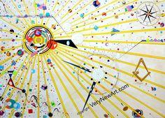 "Original Acryl Painting of the Artist Ralf Hasse; Title: Festival  Original Acrylbild des Künstlers Ralf Hasse, Titel ""Festival   #kunst #art #acrylbilder #acrylpainting"