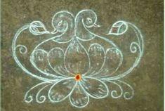 Rangoli Side Designs, Rangoli Designs Latest, Rangoli Patterns, Free Hand Rangoli Design, Small Rangoli Design, Rangoli Ideas, Rangoli Designs Diwali, Rangoli Designs With Dots, Rangoli Designs Images