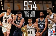 HISTORY. Tim Duncan now holds the all-time NBA record for most wins with one team.
