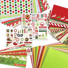 Christmas Joy Collection This collection includes one package of each of the Christmas Joy Designer products: Designer Cardstock, Solid Cardstock, Border Strips, Journal Cards and Accent Stickers. Products may also be purchased separately.