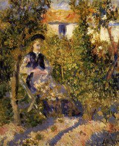 Nini in the Garden 1875-1876 | Pierre Auguste Renoir | Oil Painting
