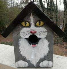 BIRD HOUSE  Wood Hand Painted  Custom Made for by GiftsbySuzanne, $37.00