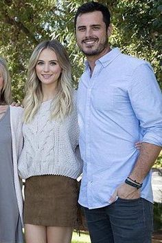 Lauren Bushnell wearing Free People Sticks and Stones Sweater and Lpa Lace Up Skirt 56 in Tan